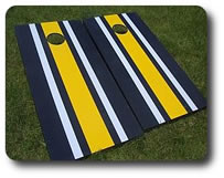 Striped Cornhole Boards